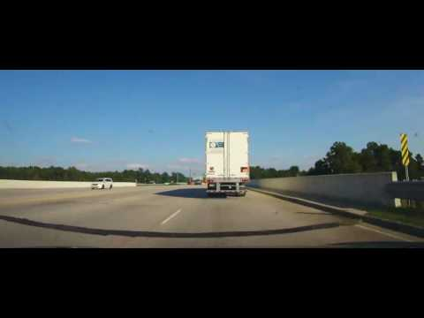 Driving on Interstate 95 across entire state of South Carolina