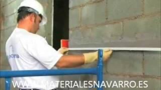APLICACION MORTERO MONOCAPA PIEDRA MORCEMDUR PIEDRA.wmv