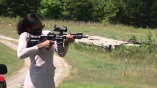 shooting a 300 aac blackout ar pistol girls shooting guns