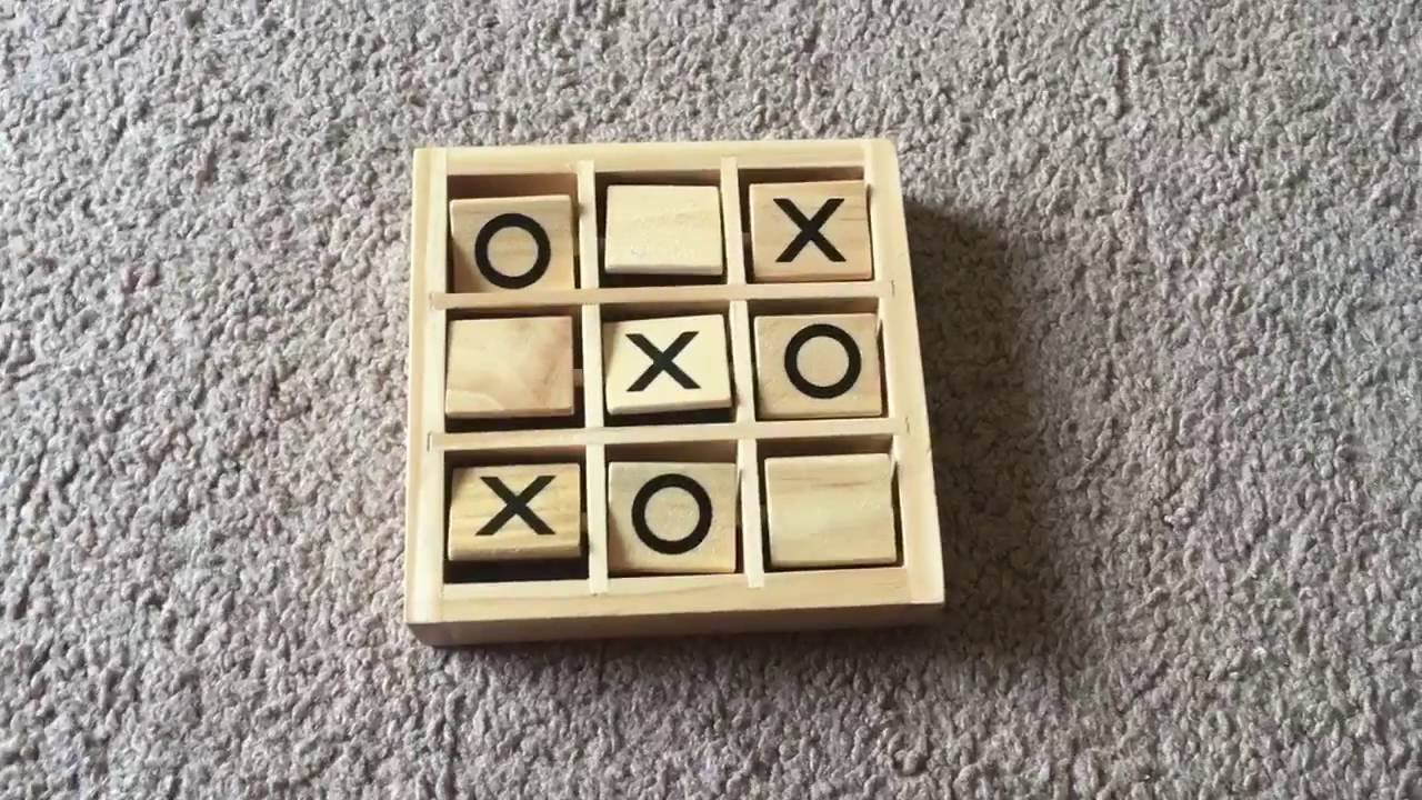 Wooden Tic Tac Toe Game 2 Player Handheld Brain Challenge Game Youtube
