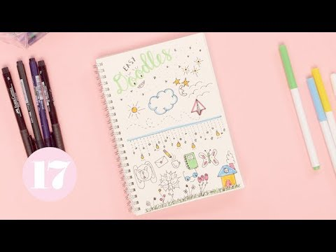 easy bullet journal doodles plan with me youtube. Black Bedroom Furniture Sets. Home Design Ideas