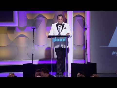 Ross Mathews opens the #glaadawards in Los Angeles