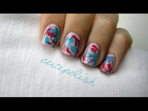 Water marble nails without water youtube water marble nails without water prinsesfo Images