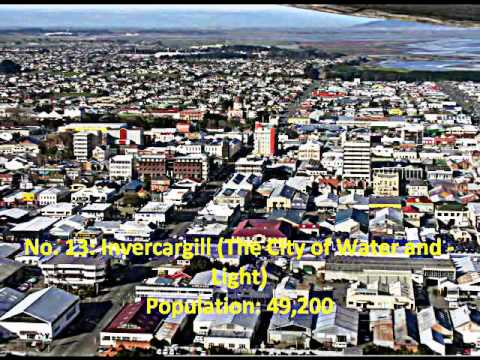 Top 20 Urban Areas of New Zealand