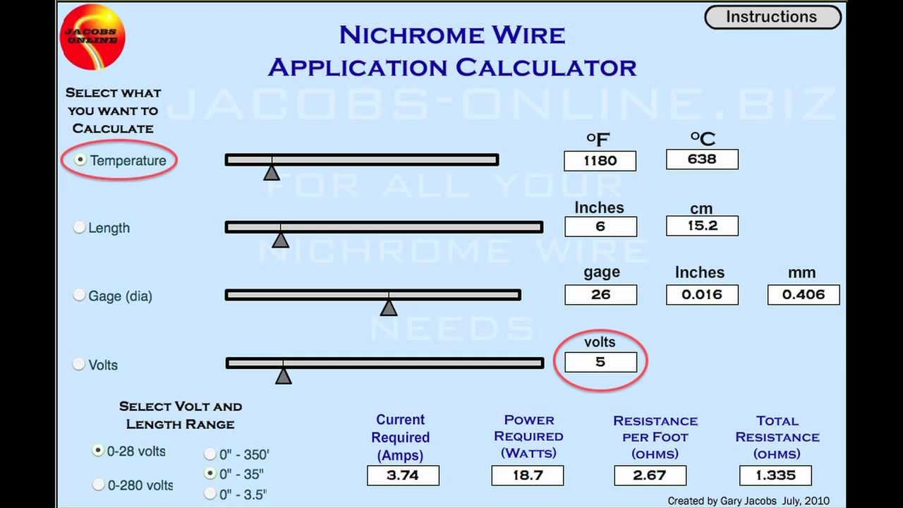 Nichrome Wire Application Calculator Center Plc Schematics Moreover Ladder Logic Symbols Furthermore Concorso Power Supply Calculations Hwfci Youtube Rh Com Resistance Table Bending Plastic With