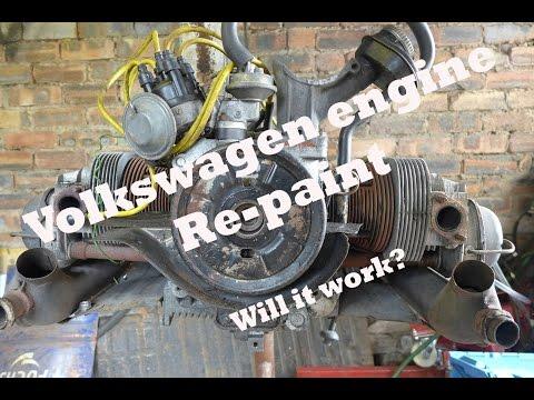 Volkswagen Beetle Engine re-paint.