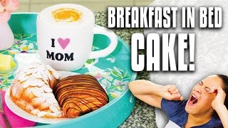 How to Make CAKES that look like Croissants, Fruit Bowl and Cappuccino for Mother's Day Surprise! thumbnail