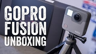 GOPRO FUSION UNBOXING! Size & weight comparisons and more!