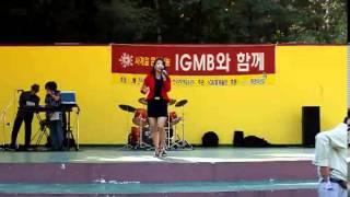 트로트가수 김수미  09,10,10) 소요산에서 공연중