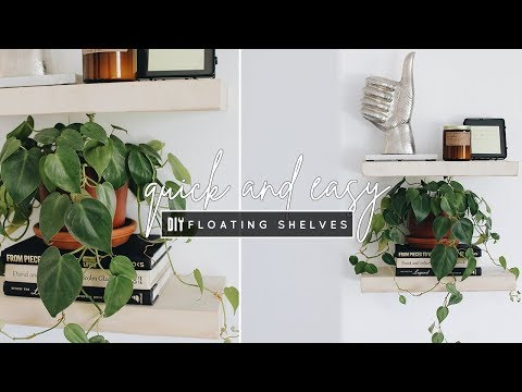 DIY Easy Floating Shelves