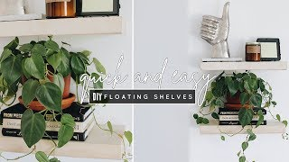 DIY Easy Floating Shelves