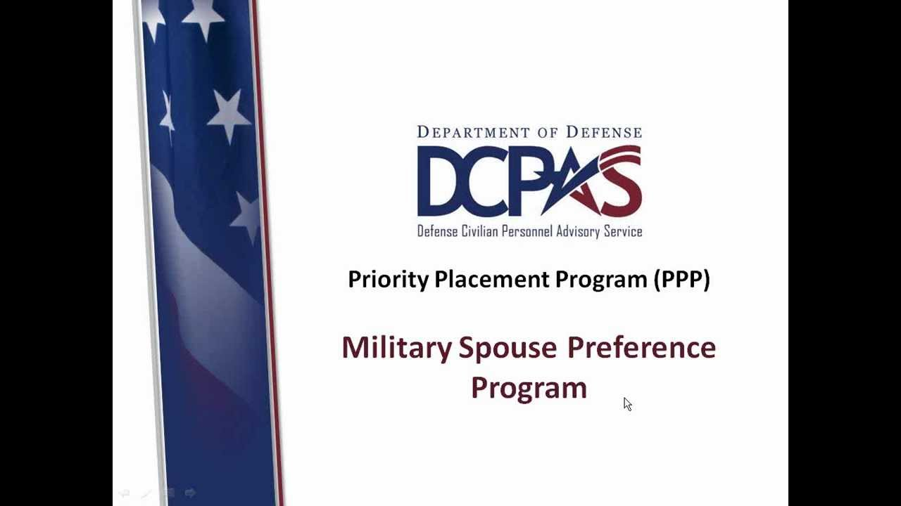 Military Spouse Federal Jobs With Us Dod Agencies With Ppp S By