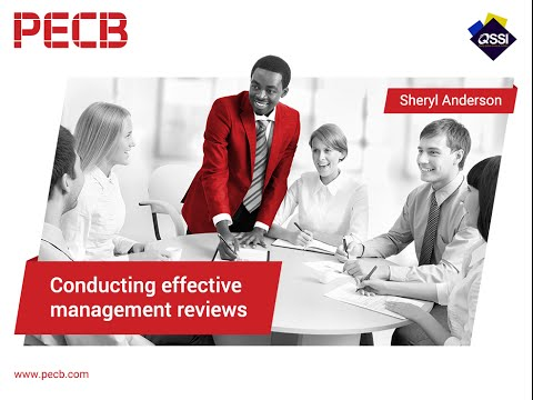 Conducting effective management reviews