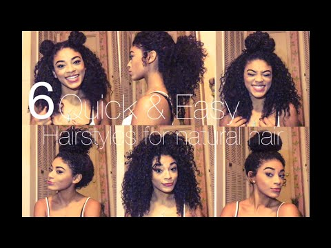 Easy Hairstyles For Natural Hair 5 quick and easy hairstyles for short natural hair youtube 6 Quick Easy Hairstyles For Natural Hair Jasmeannnn