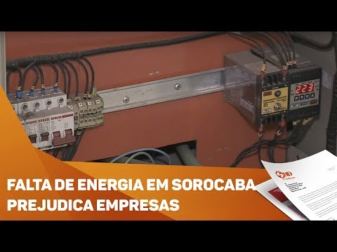 Falta de energia em Sorocaba prejudica empresas - TV SOROCABA/SBT