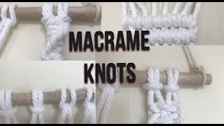 MACRAMÉ KNOTS FOR BEGINNERS | IMPORTANT KNOTS TO LEARN FOR MACRAMÉ | Sarah G.