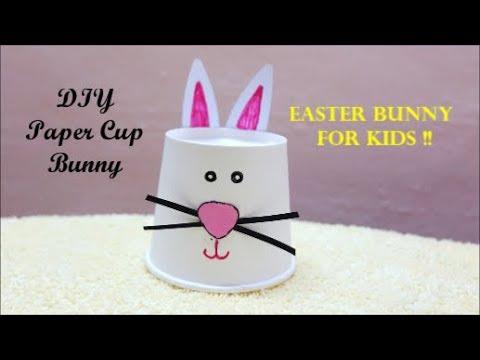 Paper Cup Bunny For Kids !! DIY Easter Bunny ~ Kids Craft ~ Tutorial ~ Steps