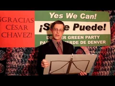 Gary Swing for Congress (Green Party, Denver, CO) 2012