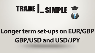 Learn Forex - Longer term set-ups on EUR/GBP, USD/JPY and GBP/USD