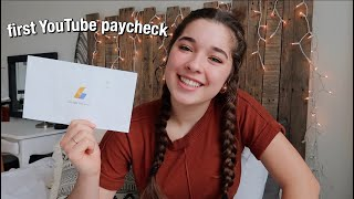 MY FIRST YOUTUBE PAYCHECK + how to have a successful channel