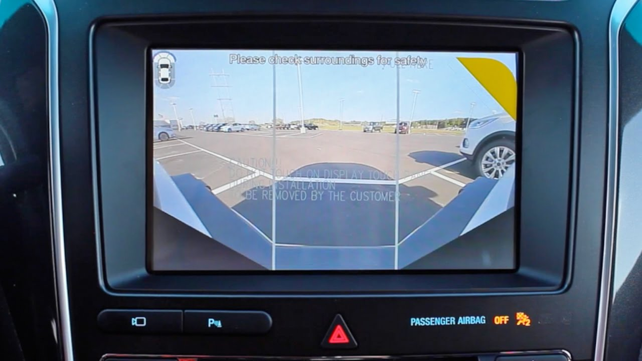 how to use the front 180 camera on a 2017 ford explorer limited