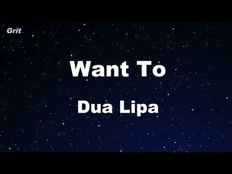 Want To - Dua Lipa Karaoke 【With Guide Melody】 Instrumental