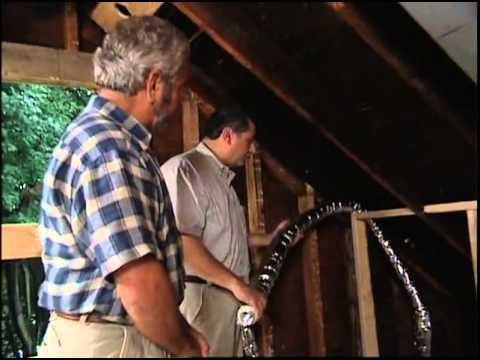 hot sale online b57ea f2a60 Installing High-Velocity, Flexible-Duct Air Conditioning in an Older Home -  YouTube