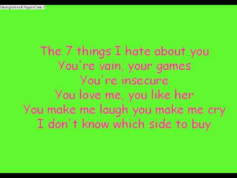 7 things i like about you lyrics