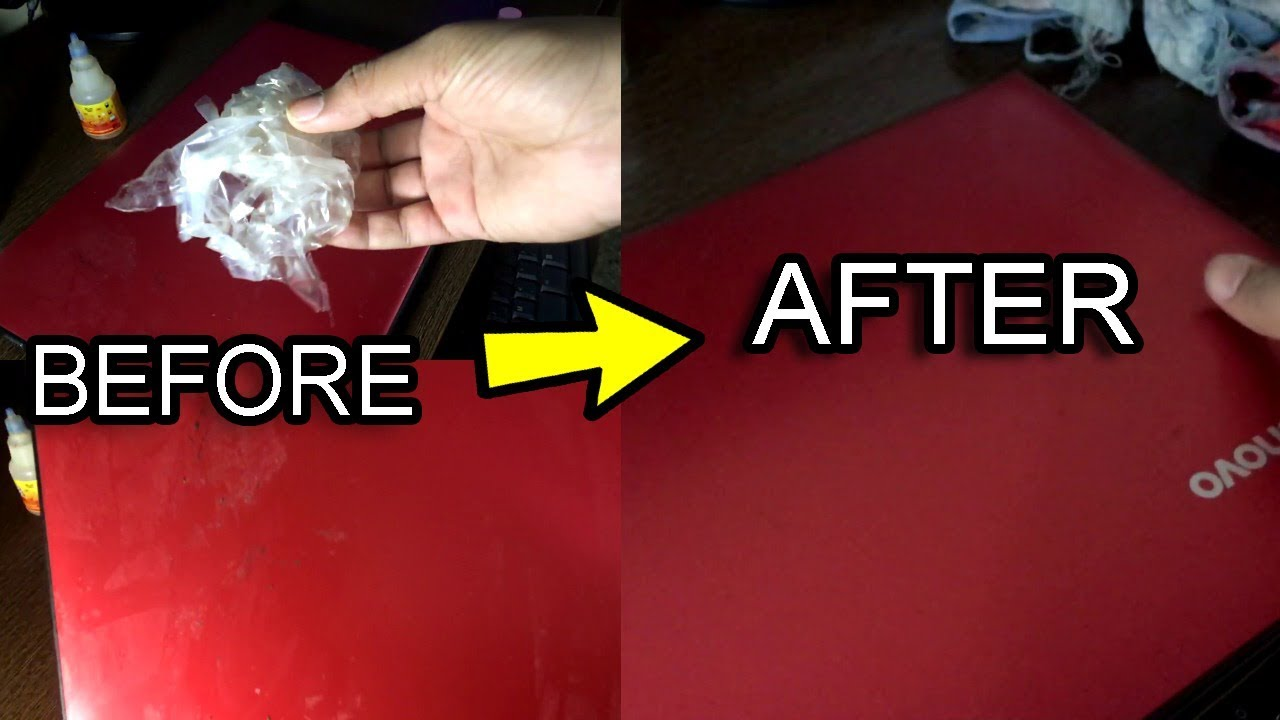 How To Remove Stickers From Laptop / Left Over Glue Easily ...