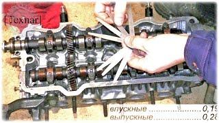 3S-FE. Засухаривание, герметичность клапанов. Как выставить распредвалы по меткам. Зазоры. (Toyota)