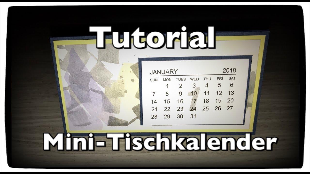 Tutorial Anleitung Mini Kalender Tischkalender Kalender Selber Machen Desktop Calendar Diy