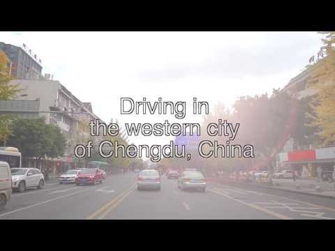 Driving in the western city of Chengdu, China