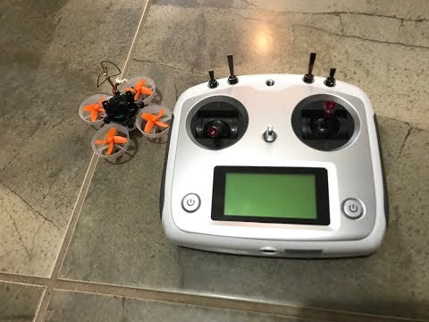 How to connect your Eachine E010S Tiny Woop to your fly-sky FS-i6S radio controller.