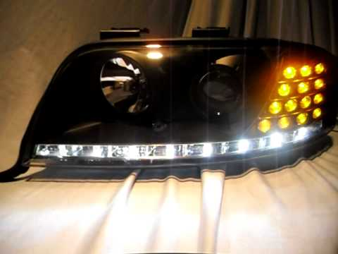sold out xenon hid scheinwerfer audi a6 4b black mit led. Black Bedroom Furniture Sets. Home Design Ideas