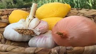 Onion, garlic and lemon  the three super powerful remedies You must know them