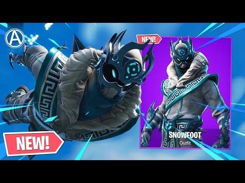 "NEW ""SNOWFOOT"" SKIN in Fortnite Battle Royale! (NEW ""SNOWFOOT"" SKIN Gameplay) thumbnail"