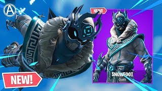 "NEW ""SNOWFOOT"" SKIN in Fortnite Battle Royale! (NEW ""SNOWFOOT"" SKIN Gameplay)"