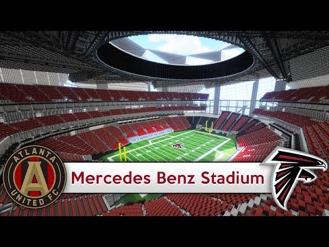 mercedes benz stadium minecraft. Minecraft - MEGABUILD Mercedes-Benz Stadium (Atlanta Falcons/United) + DOWNLOAD [Official] Mercedes Benz YouTube