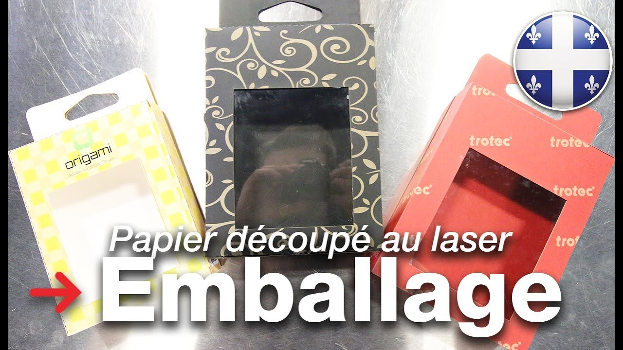 emballage d coup au laser cr ez votre propre emballage papier d coup au laser youtube. Black Bedroom Furniture Sets. Home Design Ideas