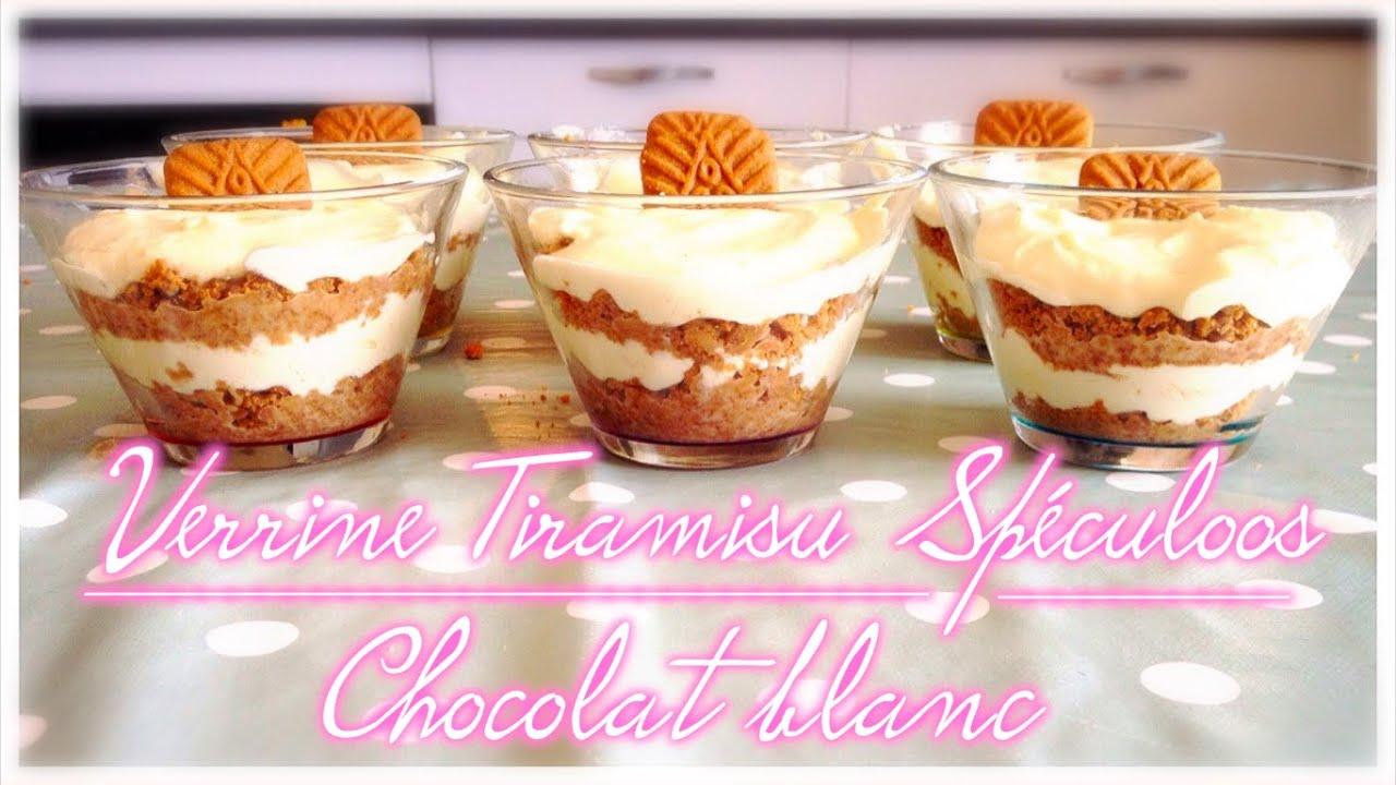 recette tiramisu speculoos et chocolat blanc
