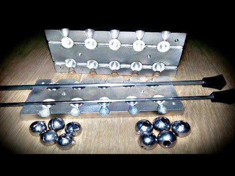 видео: Как сделать самодельную алюминиевую формы для литья грузил с нуля. Любые шарики с отверстием.