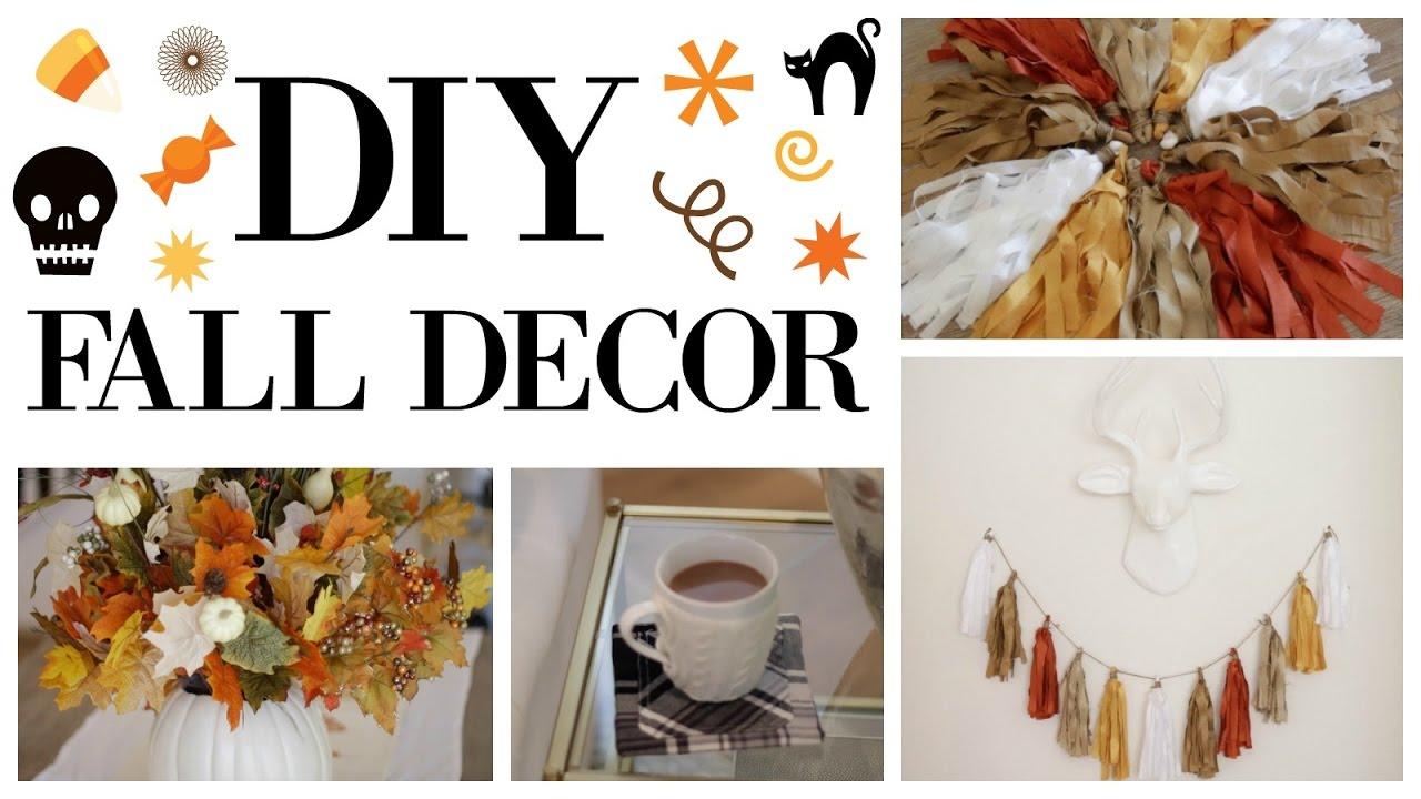 DIY FALL HOME DECOR! | Blair Fowler   YouTube