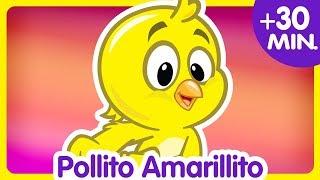 POLLITO AMARILLITO + Compilado de Clips 30 min. - Canciones infantiles de la Gallina Pintadita