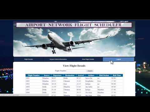 Airport Network Flight Scheduler Project