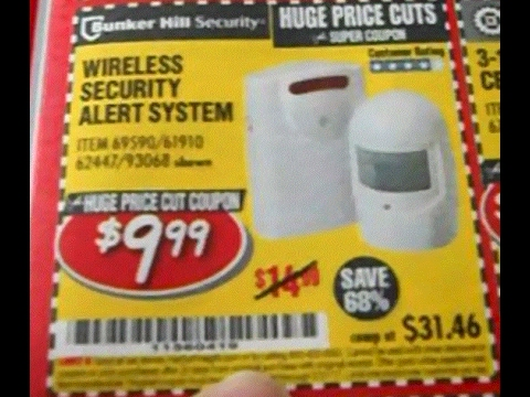 bunker hill security wireless security alert system UNBOXING Harbor Freight Bunker Hill Wireless SECURITY ALERT System ...