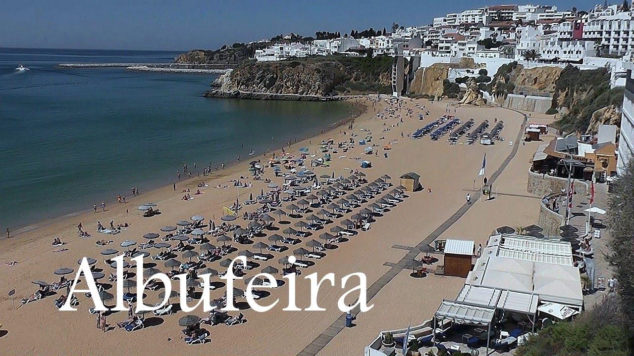 Algarve Albufeira Town Beach Portugal
