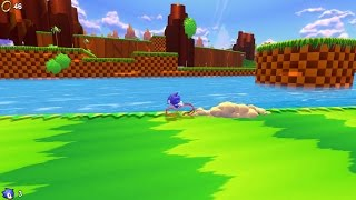 (Not quite) Running on water (1:15.05) - Sonic Utopia Speedrun - Watery right route: Green Hill Zone