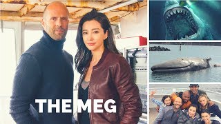 The Meg Movie 2018 Behind The Scenes Jason Statham And Ruby Rose