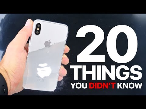 iPhone X/8 - 20 Things You Didn't Know!