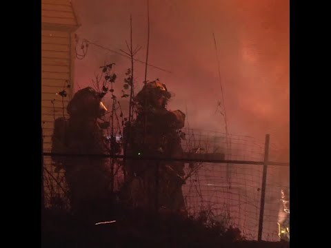 Video from 4-alarm fire shows dangers firefighters face